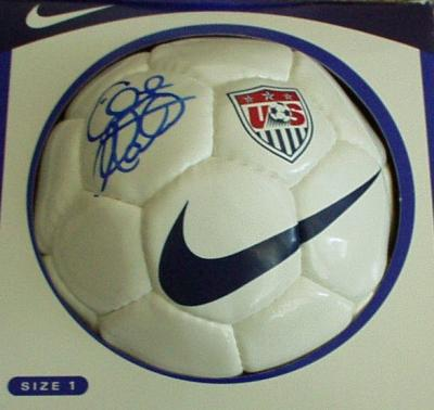 Clint Mathis autographed U.S. Soccer logo mini ball