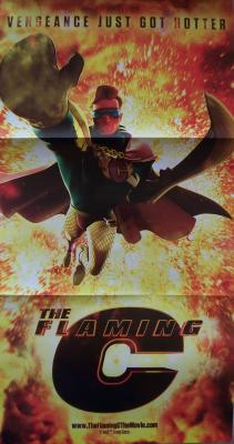 Flaming C (Conan O'Brien) 2011 Comic-Con foldout promo poster