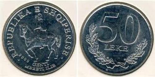 Coins; Coin 50 Lek Albania; Year: 2000