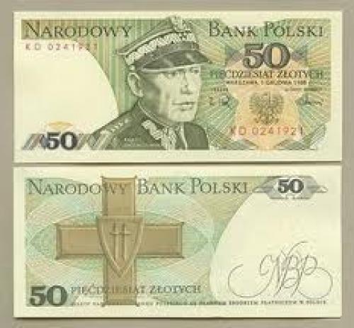 Banknotes; Poland - 50 zloty ; Year: 1988