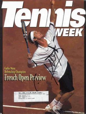 Carlos Moya autographed 1999 Tennis Week magazine