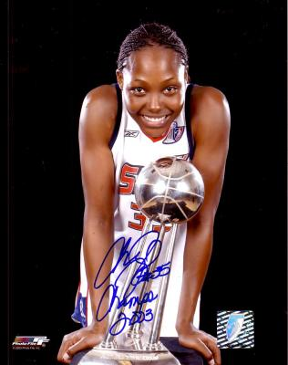 Cheryl Ford autographed 8x10 WNBA Detroit Shock photo inscribed Champs 2003
