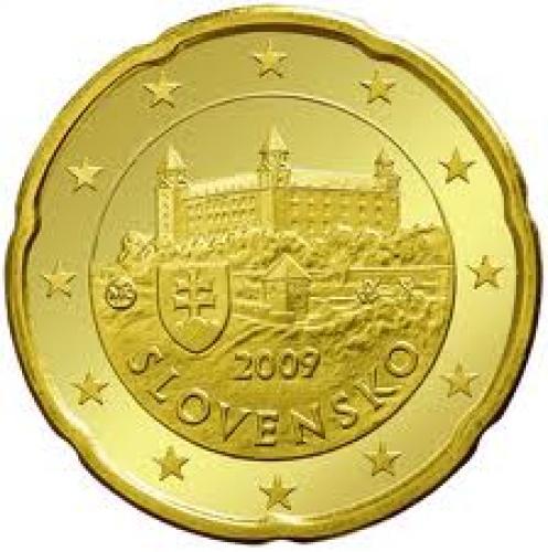 Coins; Slovakia_20_euro_cent