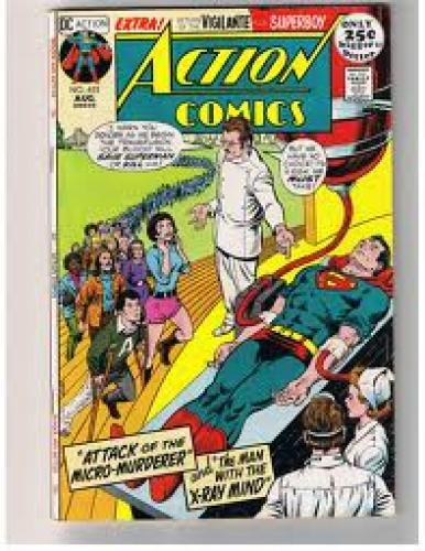 "Comics; Action Comics #403: "" Attack of the Micro-Murderer"""