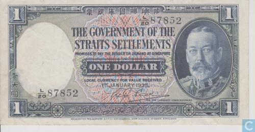 Straits Settlements 1 dollar 1935