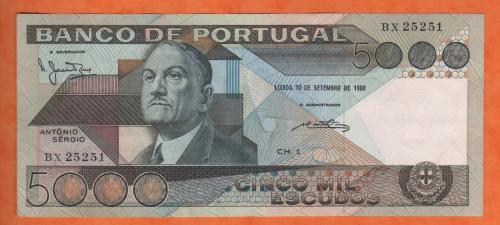 Portugal 5000esc 1980