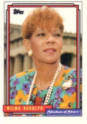 Wilma Rudolph 1992 Topps Stadium of Stars card