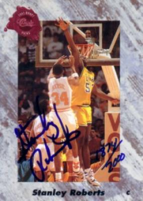 Stanley Roberts certified autograph LSU 1991 Classic card
