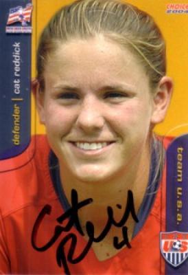 Cat (Reddick) Whitehill autographed 2004 U.S. Soccer card