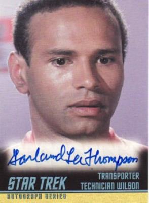 Garland Lee Thompson Star Trek certified autograph card