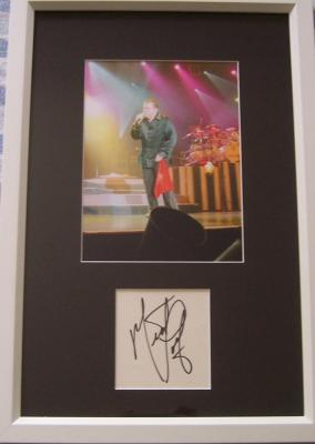 Meat Loaf autograph matted & framed with concert photo