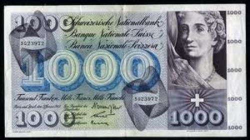 Banknotes; Switzerland 1000 Franken