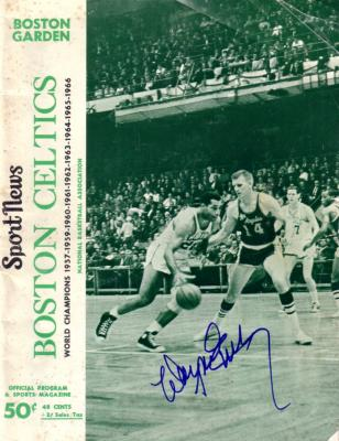 Wayne Embry autographed Boston Celtics 1967 game program