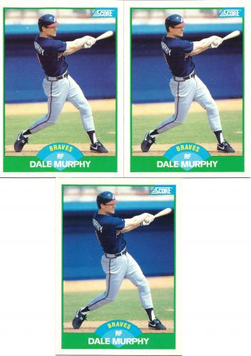 (3) 1989 Score #30 ~ Dale Murphy * FREE SHIPPING *