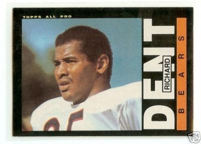 Richard Dent Bears 1985 Topps Rookie Card #24