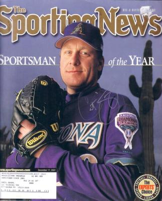 Curt Schilling autographed Arizona Diamondbacks 2001 Sporting News