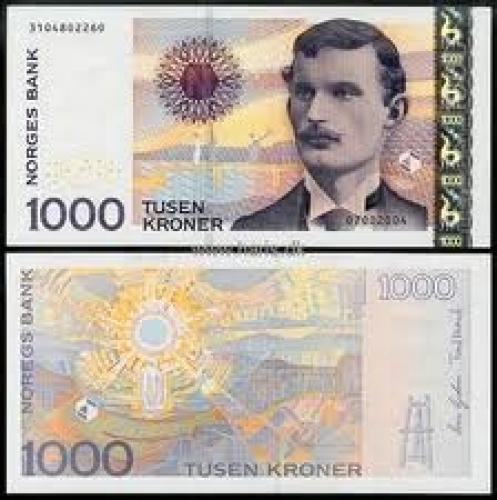 Banknotes; NORWAY 1000 Kroner Year: 2004