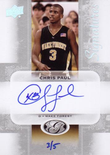 2011 UD ALL TIME GREATS AUTO CHRIS PAUL #3/5