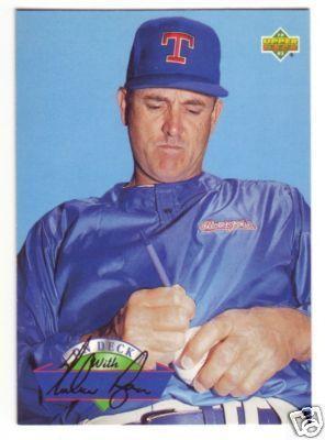 Nolan Ryan Rangers 1993 Upper Deck On Deck insert card #D20
