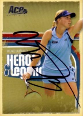 Michaella Krajicek autographed 2006 Ace Authentic tennis card