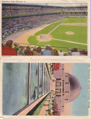 Chicago White Sox Comiskey Park 1940s postcard size photo