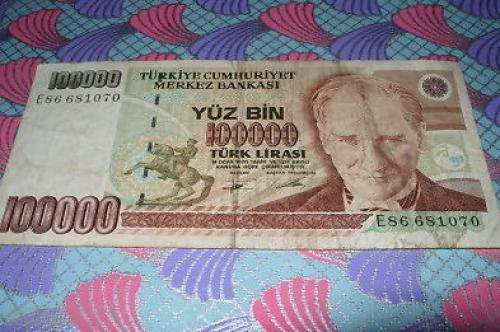 Turkey-100,000 liras-1970