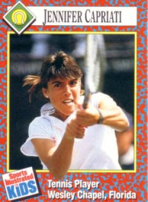 Jennifer Capriati 1991 Sports Illustrated for Kids Rookie Card