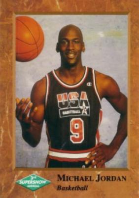 Michael Jordan USA Basketball 1992 Super Show promo card