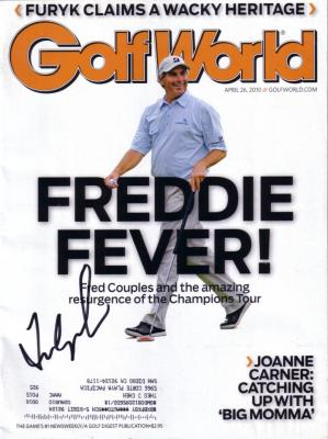 Fred Couples autographed 2010 Golf World magazine