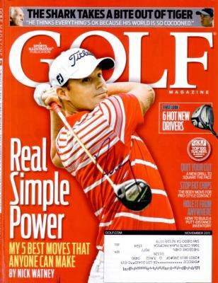 Nick Watney autographed 2011 Golf Magazine cover
