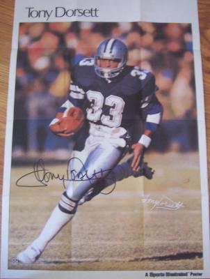 Tony Dorsett autographed Dallas Cowboys 11x17 mini poster