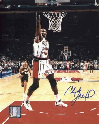 Clyde Drexler autographed Houston Rockets 8x10 photo