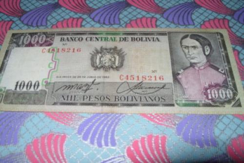 Bolivia 1000 pesos Bolivianos 1981/4