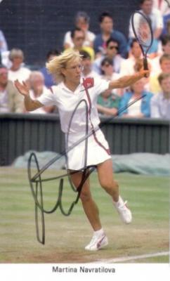 Martina Navratilova autographed 1987 Fax Pax tennis card