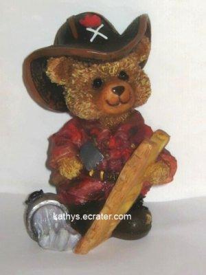 Resin Fireman Firefighter Bear Animal Figurine