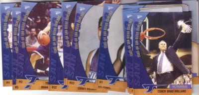 2003-04 University of San Diego Toreros basketball card set (Brad Holland)
