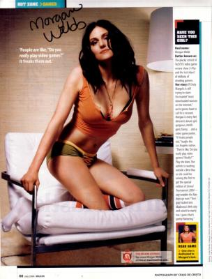 Morgan Webb autographed sexy magazine full page photo