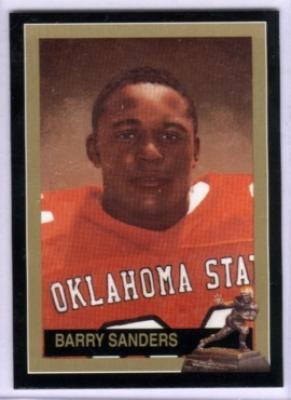 Barry Sanders Oklahoma State Heisman Trophy winner card