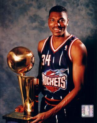 Hakeem Olajuwon 8x10 Rockets NBA Championship photo