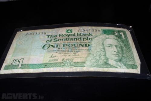 Royal Bank-SCOTLAND-1 Pound-1987