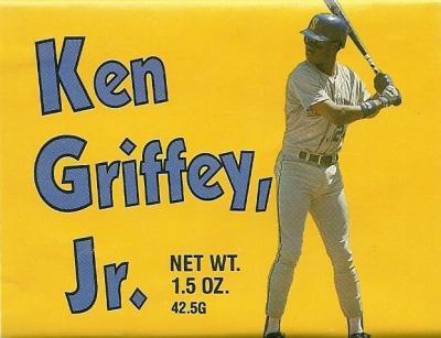 Ken Griffey Jr. 1989 rookie season chocolate bar wrapper set (2)