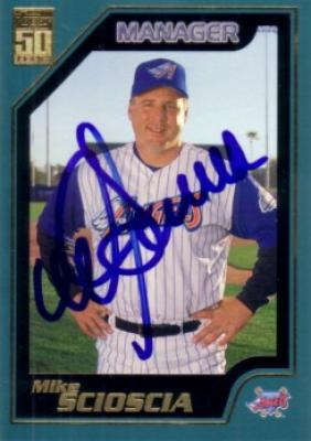 Mike Scioscia autographed Anaheim Angels 2001 Topps card