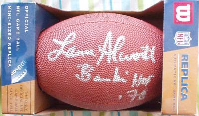 Lance Alworth autographed mini NFL football inscribed Bambi