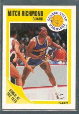Mitch Richmond 1989-90 Fleer Rookie Card