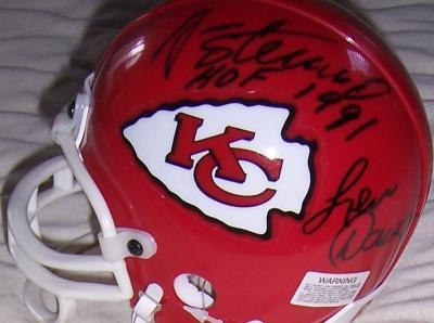 Len Dawson Jan Stenerud Emmitt Thomas Fred Williamson autographed Kansas City Chiefs mini helmet