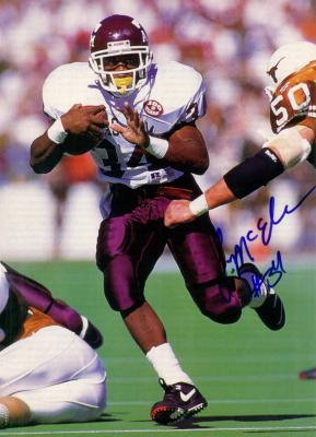 Leeland McElroy autographed Texas A&M full page magazine photo