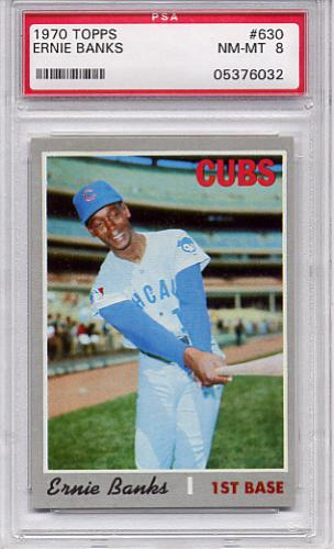 1970 Topps Ernie Banks #630 PSA 8 NM-MT