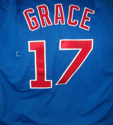 Mark Grace autographed Chicago Cubs authentic game model jersey