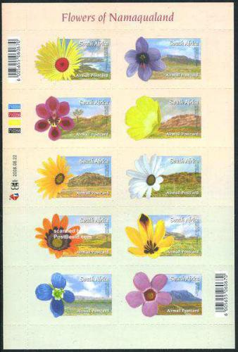 Flowers of Namaqualand 10v m/s s-a