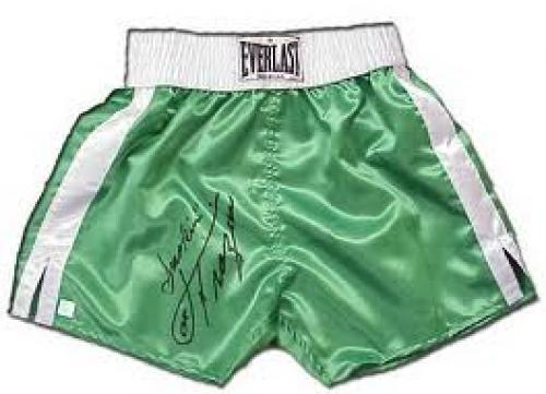 Memorabilia; Joe Frazier Autographed Everlast Boxing Trunks W Inscription